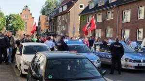 Poliizei stoppt Demo in der Gartenstraße
