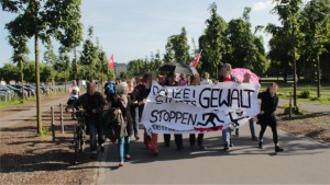 Demo Start am Schlossplatz