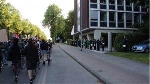 Demo vor der Polizeiwache